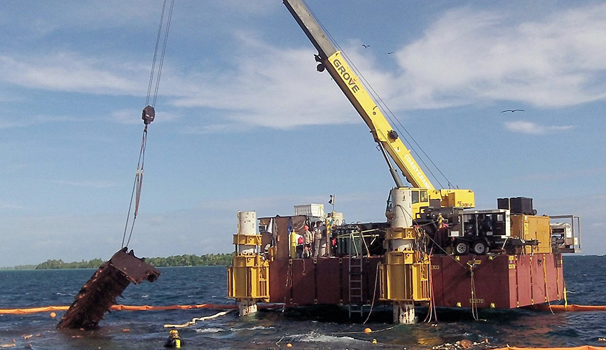 Palmyra Atoll Jack Up Debris Removal - Curtin Maritime