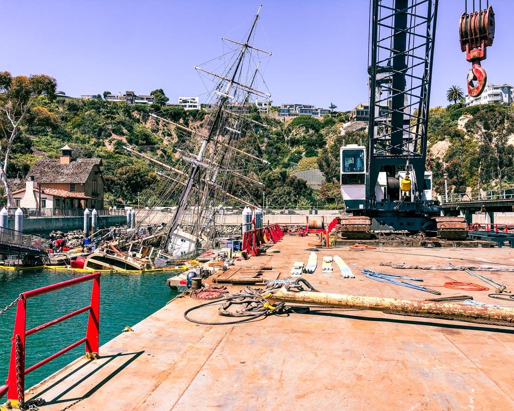 Pilgrim Tall Ship Salvage Vessel Demolition Dana Point