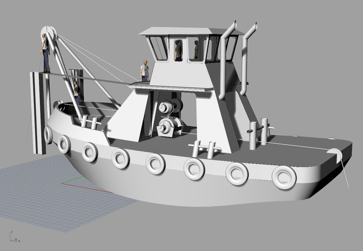 Vessel Design Build Engineering Fabrication Tugboat 45 x20 Workboat Curtin Maritime Bernardine C