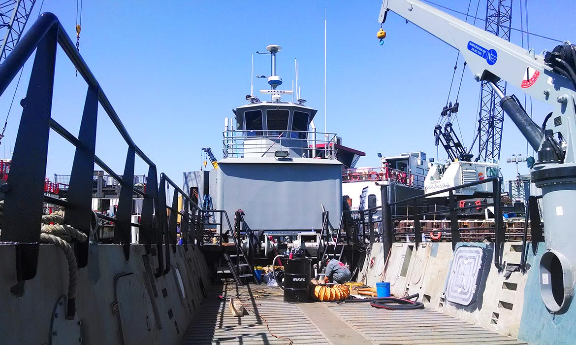 Vessel Design-Build Fabrication Port of Long Beach Harbor Patrol Curtin Maritime LCM8